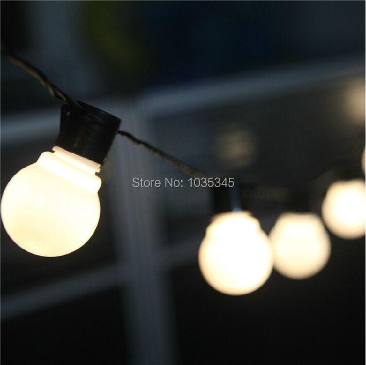 Novelty Outdoor lighting 5cm big size LED Ball string lamps Black wire Christmas Lights <font><b>fairy</b></font> wedding garden pendant garland