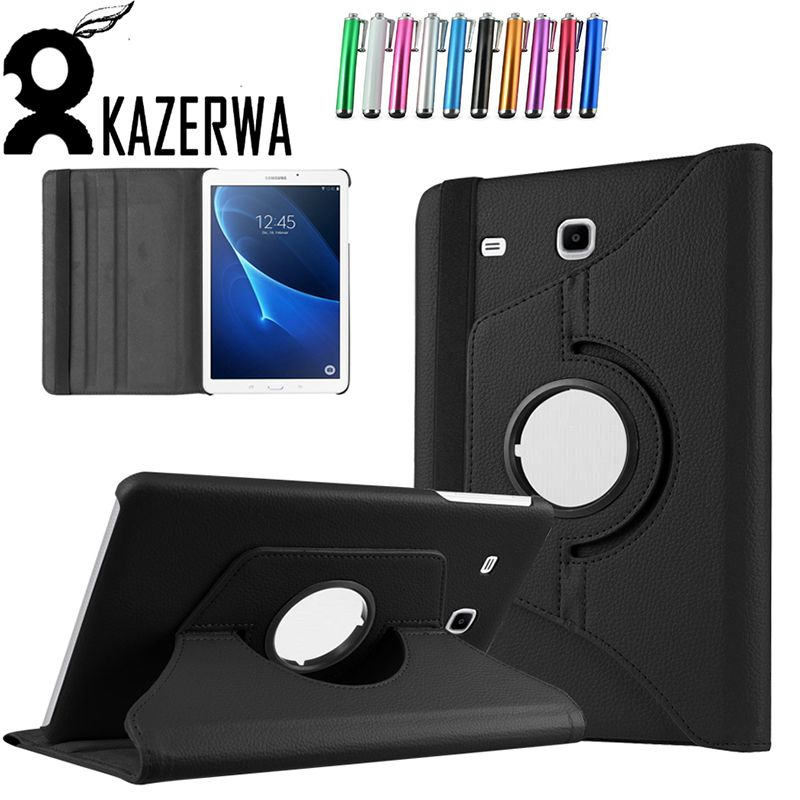 For Galaxy Tab A 7.0 Smart Case 360 Rotating PU Leather Case Cover For Samsung Galaxy Tab A 7.0 T280 T280N T285 Case +Pen Gift