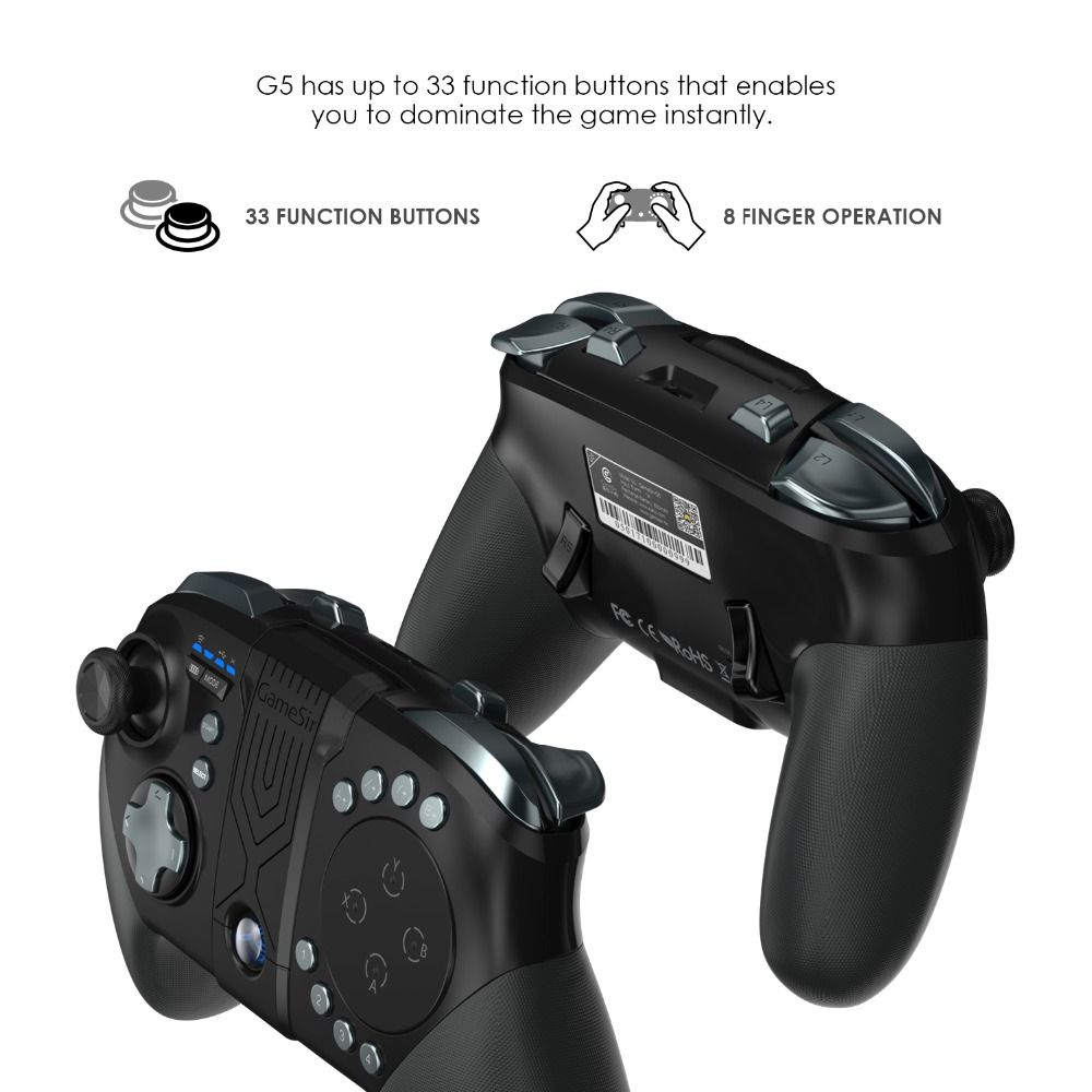 GameSir G5 with Trackpad and Customizable Buttons, Gaming Controller for MOBA/FPS/Fifth personality Bluetooth Wireless Gamepad