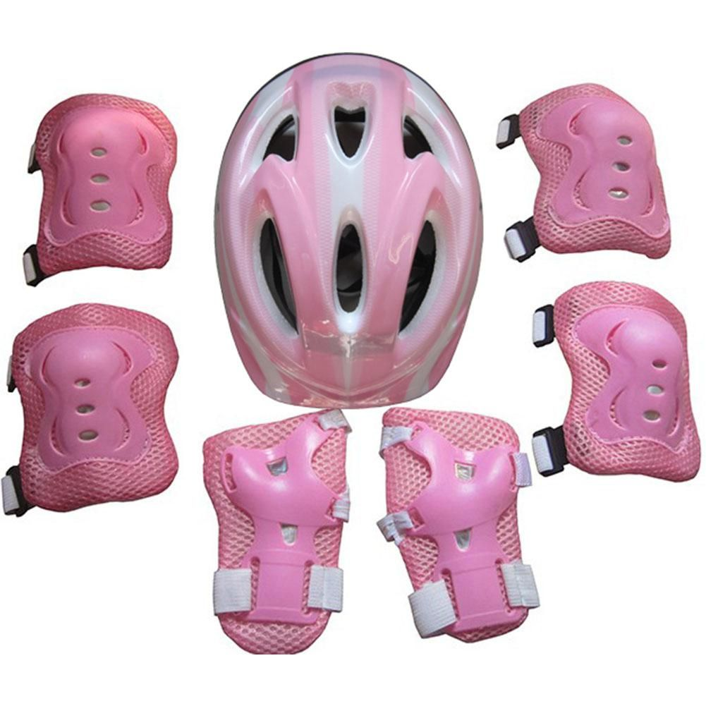Mounchain Children 7pcs/Set safety Elbow pads knee pads for Outdoor Cycling Ski Motorcycle Thick Helmet Windproof Warm