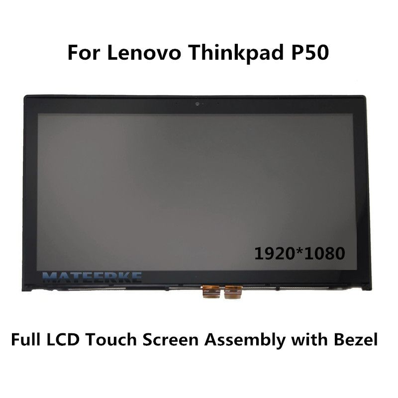 New for Lenovo Thinkpad P50 20EN LCD Touch Screen Assembly with Bezel 1920*1080