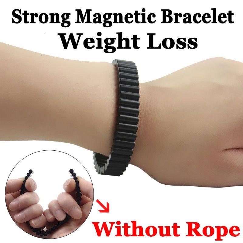 Aimants permanents noirs de néodyme de terre rare forte thérapie magnétique de Germanium bracelet de montre de santé pour les bijoux de punk d'homme SMB1001