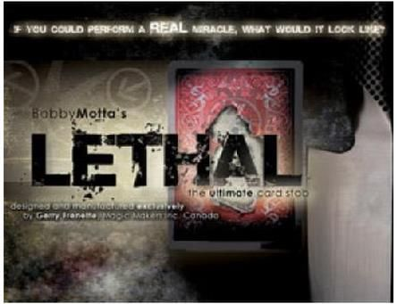 Lethal by Bobby Motta - Magic Trick,Accessories,Stage magic props,Illusion,Professional Magia,Fun,Magic Toys