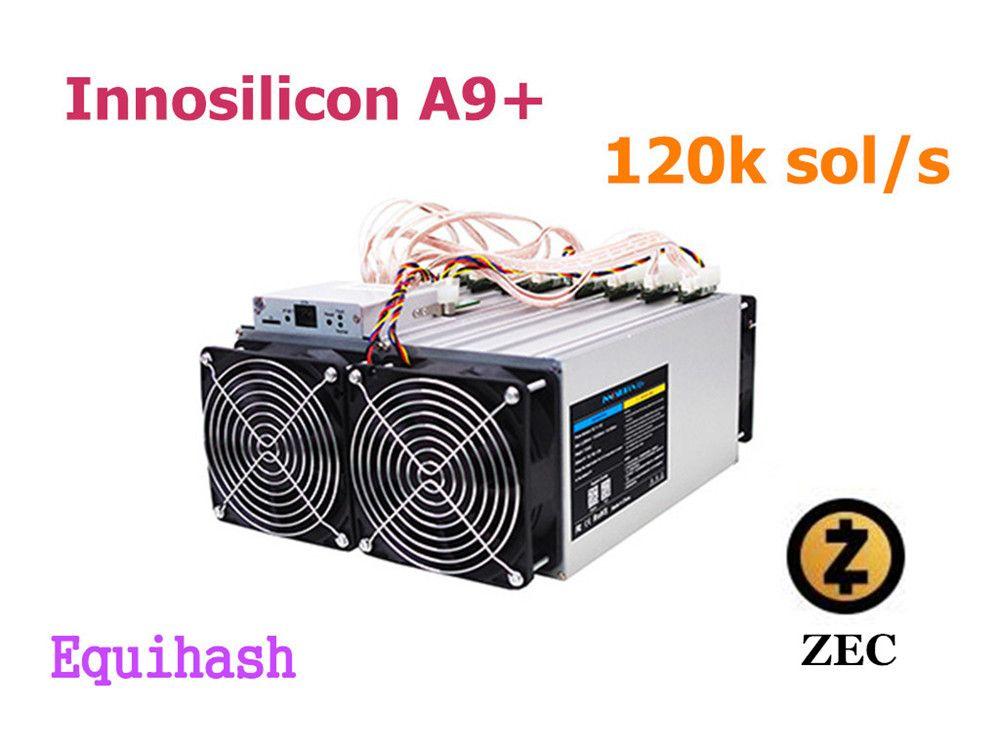 Verwendet Zcash Miner ZCL ZEC Asic Bergbau Maschine Innosilicon A9 + ZMaster 120 k sol/s Equihash Miner Besser als A9 Antminer Z9 Z11