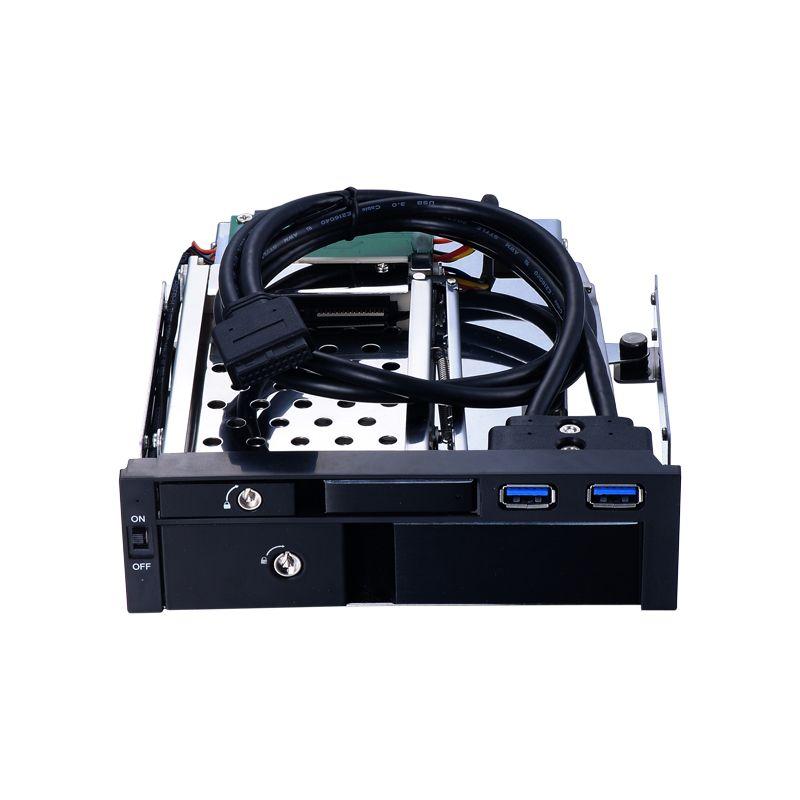 Alle aluminiumlegierung 5,25 zoll optische wechselrahmen für 2,5 zoll HDD/SSD und 3,5 zoll HDD gehäuse mit Hot-swap caddy schwarz