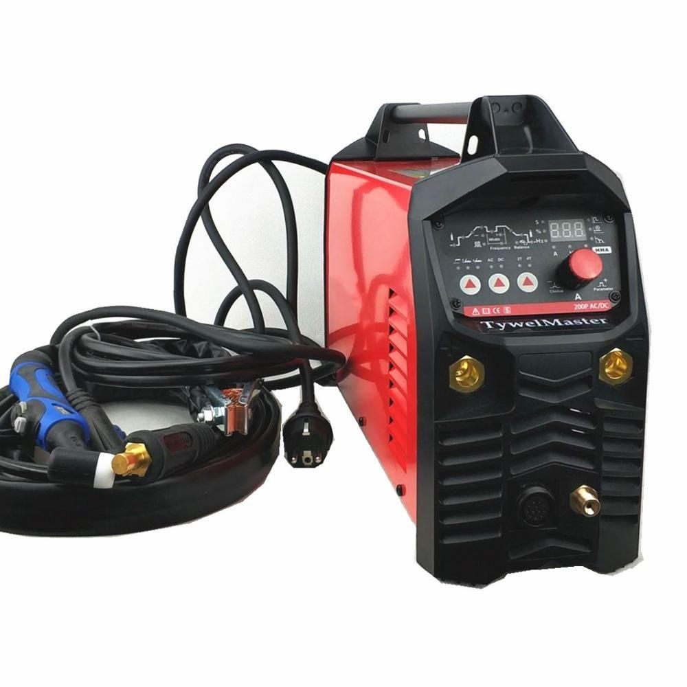 200A ACDC Puls Wig-schweißen Maschine Digital Control AC DC Pulse IGBT Inverter TIG Schweißen Ausrüstung