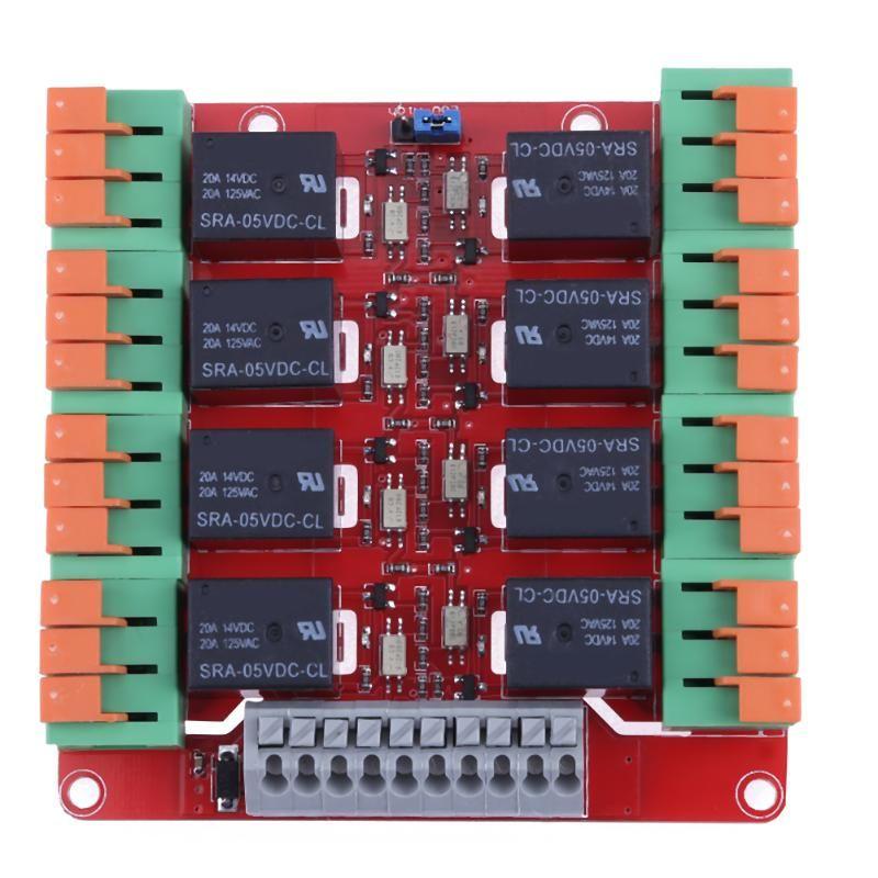 ALLOYSEED bidirektionale isoliert 8 Kanal 20A Relaissteuerung Modul für Arduino UNO MEGA2560 R3 Raspberry Pi