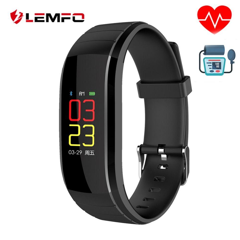 LEMFO Fitness Bracelet Heart Rate Monitor Activity Tracker Waterproof Blood Pressure Pulsometer Smart Watches For Men Wumen