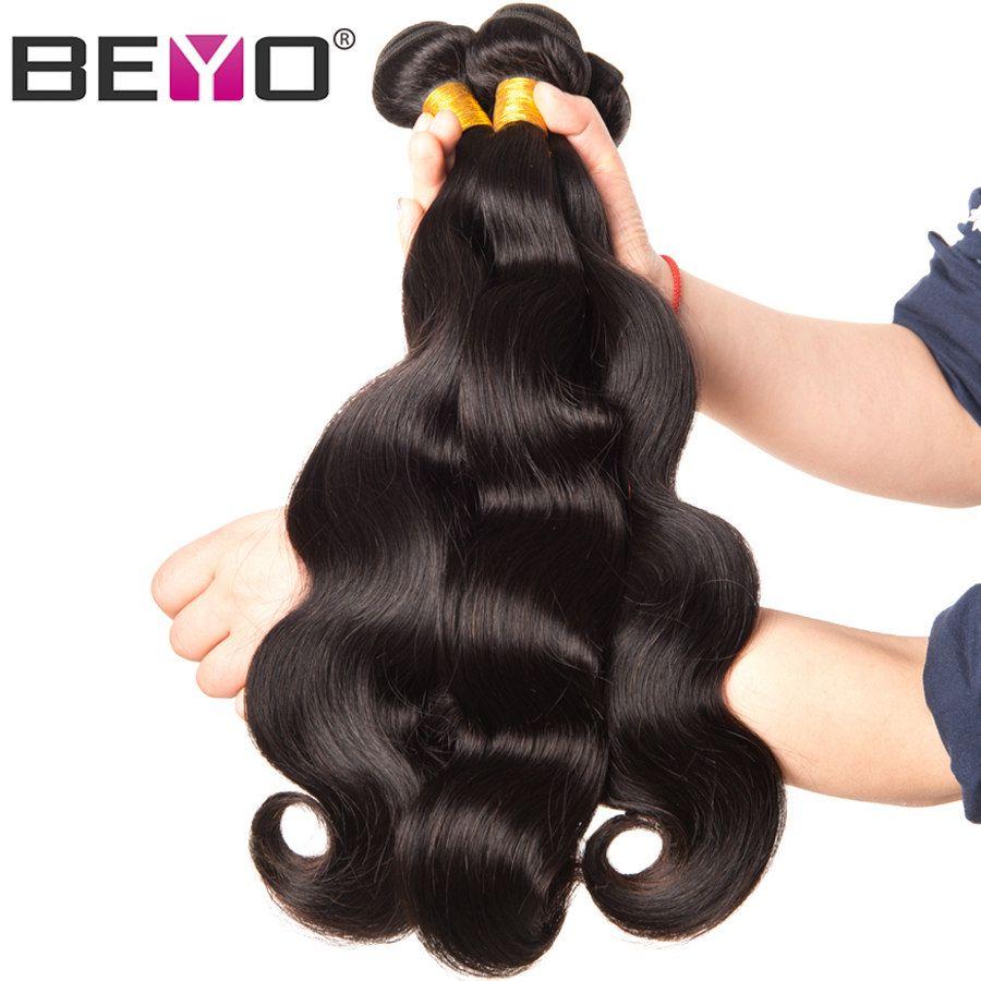 Beyo Cheveux Brésiliens Corps Vague Cheveux Weave Bundles Couleur Naturelle 100% de Cheveux Humains Faisceaux 1/3/4 pcs non-Remy Extensions de Cheveux