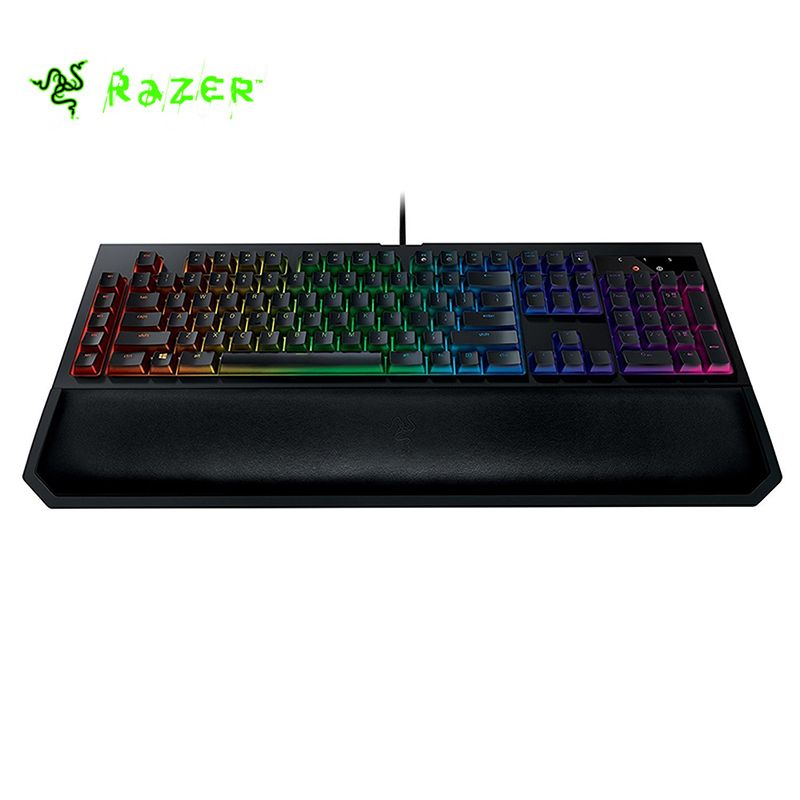Razer BlackWidow Chroma V2 RGB Wired Mechanical Gaming Keyboard 109 keys Wrist Rest Tactile & Silent Orange Switches