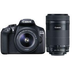 Nuevo Canon EOS 1300D Rebel T6 Cámara wi-fi DSLR y EF-S 18-55mm es III lente y EF-S 55-250mm is lente STM