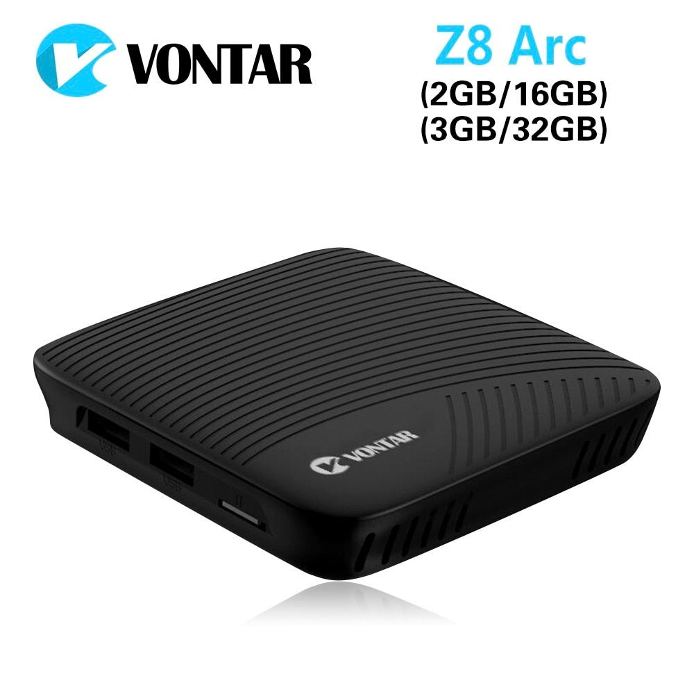 DDR4 Octa Core Android 7.1 TV Box VONTAR Z8 Arc 2 GB 16 GB Amlogic S912 2.4G & 5 GHz double Wifi BT Google Play décodeur