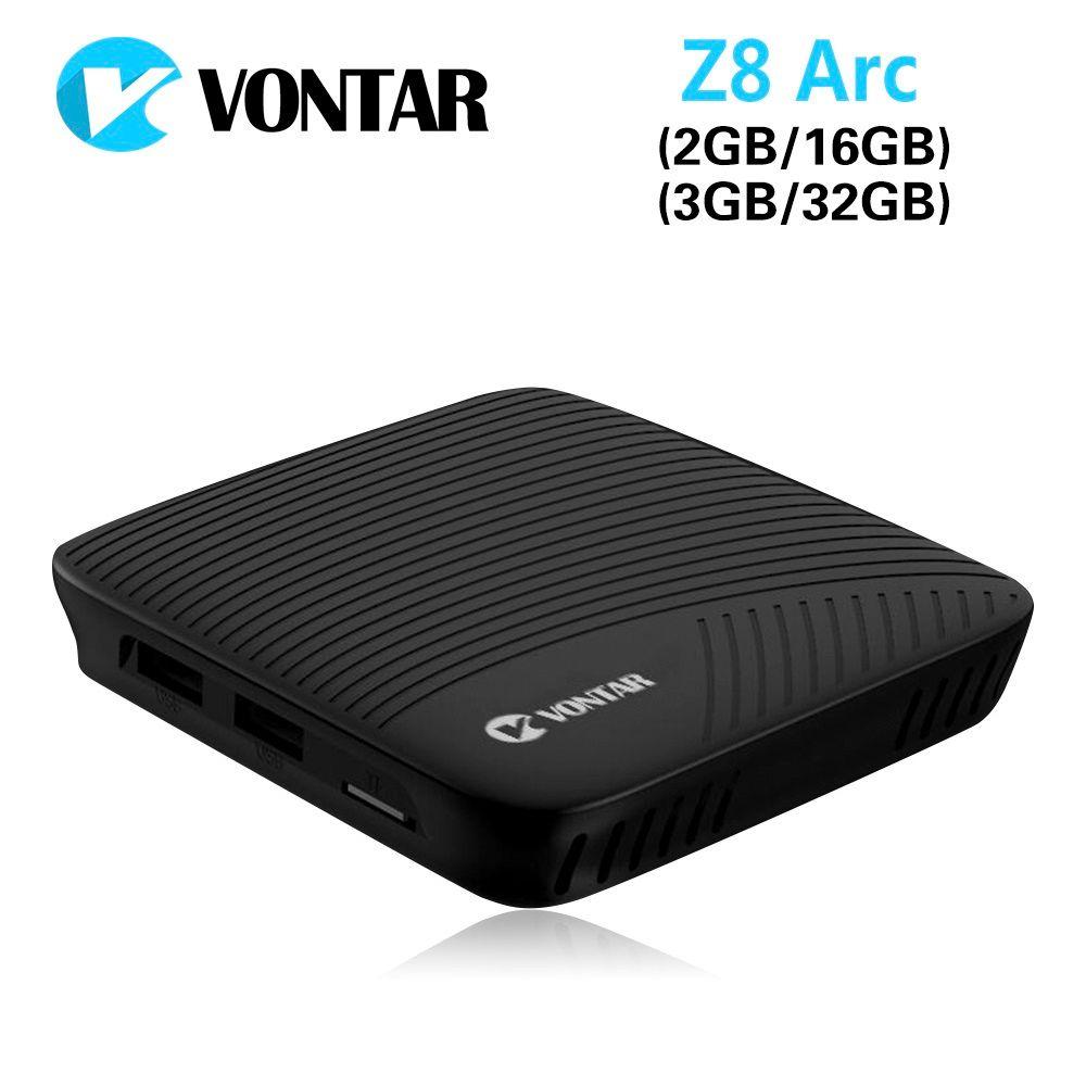 VONTAR Z8 Arc DDR4 3G/32G 2G/16G Android 7.1 Nougat TV Box VP9 4K Amlogic Octa Core 2.4G/5GHz Dual WIFI BT4.1 same M8S PRO