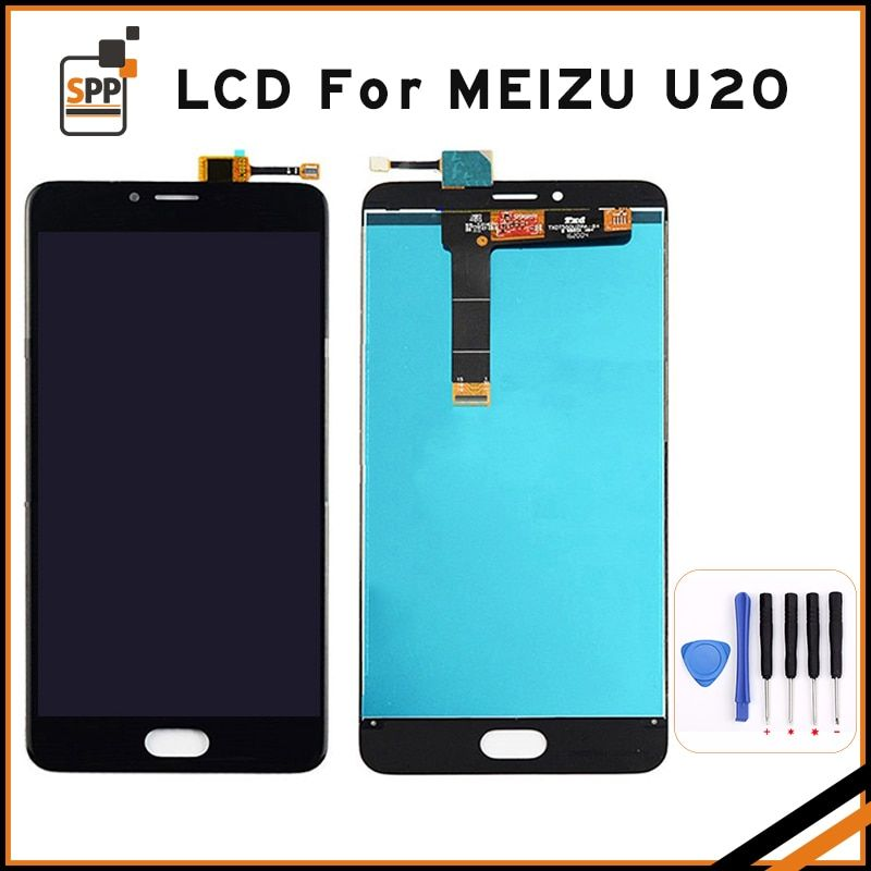 High Quality LCD For Meizu U20 Touch Screen Digitizer+LCD Display For Meizu U 20 5.5 inch Cellphone Replacement Black White+Tool