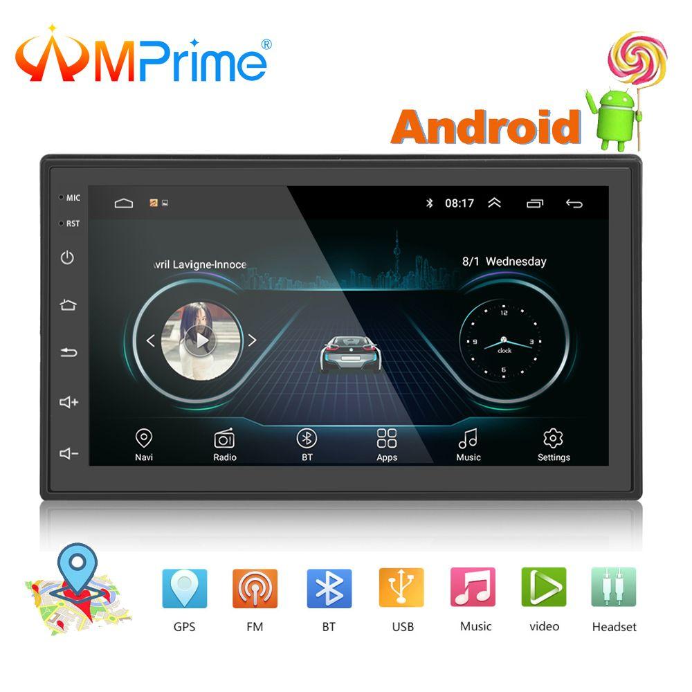 AMPrime 2 din Autoradio 7 Autoradio Android voiture multimédia GPS Bluetooth FM/USB/AUX MP5 lecteur 2din voiture stéréo moniteur de sauvegarde