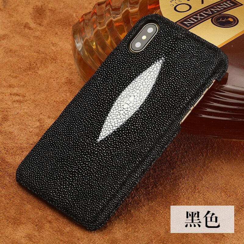 Stock ! 5 Color Real Natural Genuine Water Stingray Skin Leather Case for iphone X 5.8'' Luxury Back Cover for iphoneX