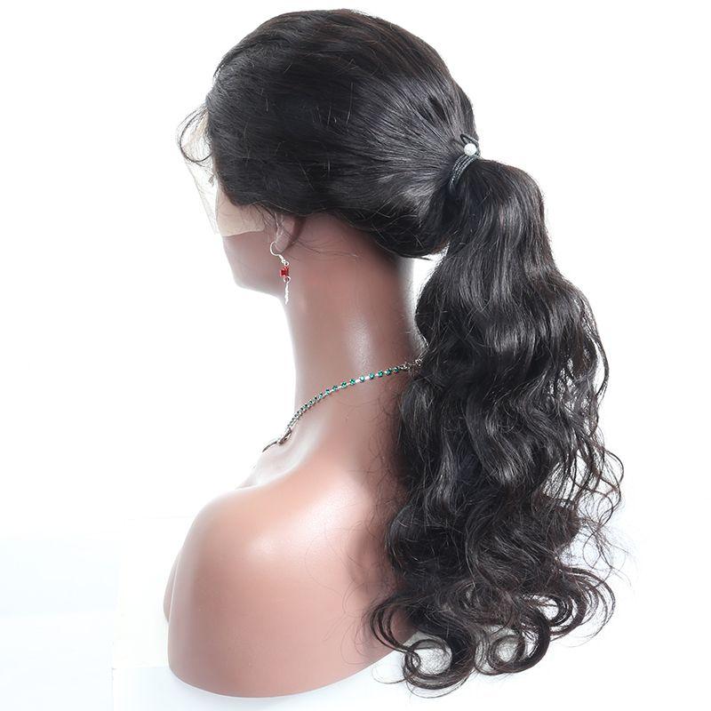 Full Lace Perruques de Cheveux Humains Pour Les Femmes Naturel Noir Vague de Corps Full Lace Perruques Avec Bébé Cheveux 180 Densité Vierge Cheveux Ensoleillé reine