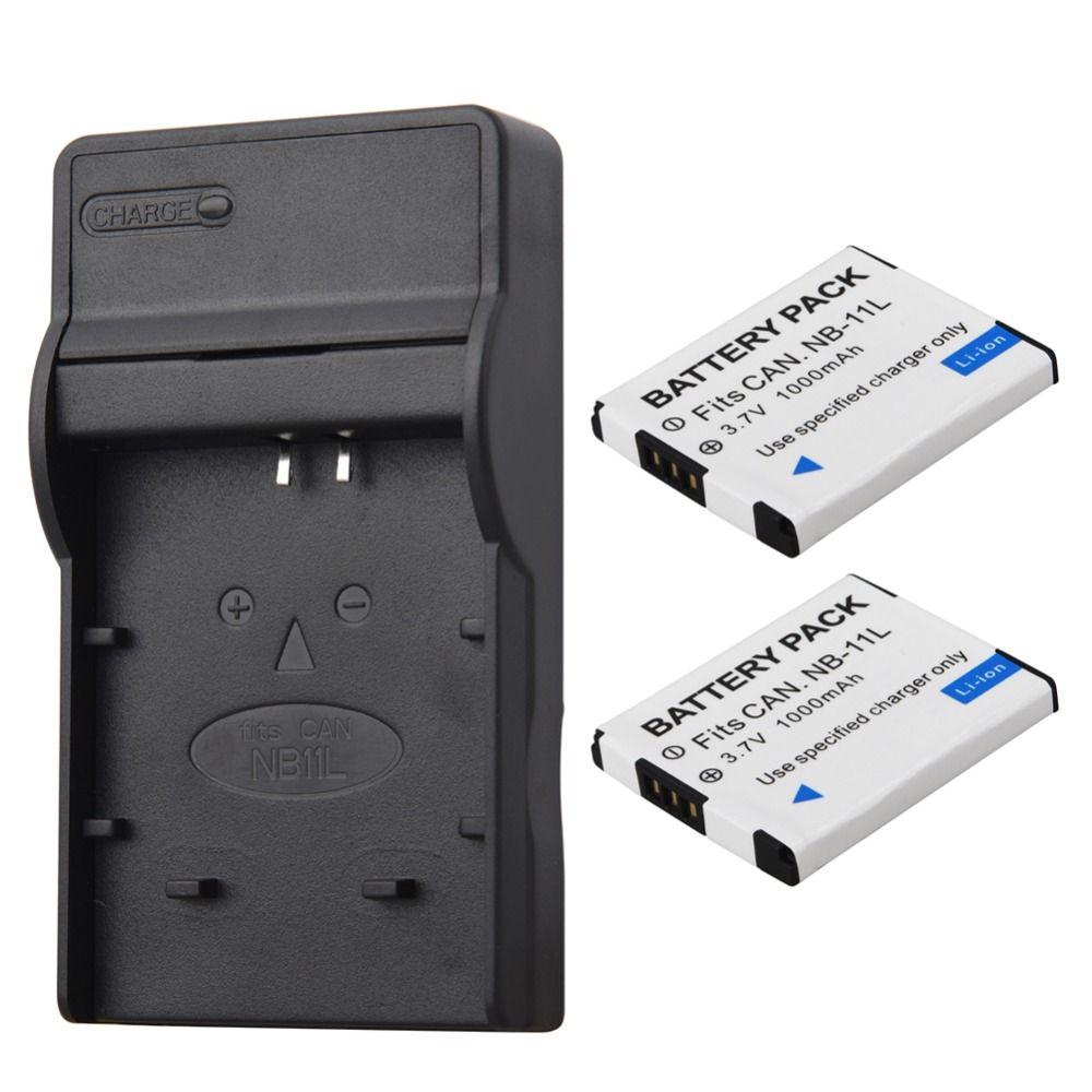 2 pièces NB-11L NB 11L NB11L NB-11LH Batterie + Chargeur Pour appareil photo Canon A2600 A3500 A4000IS IXUS 125 132 140 240 245 265 155 HS