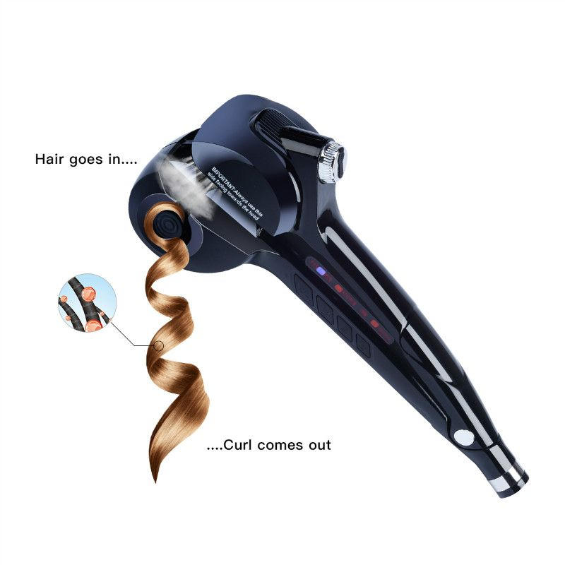 LED Digital Automatic Curling Iron Ceramic Steam Spray Hair Waver Machine Fast Hair Curler Curls Temperature Control EU US Plug