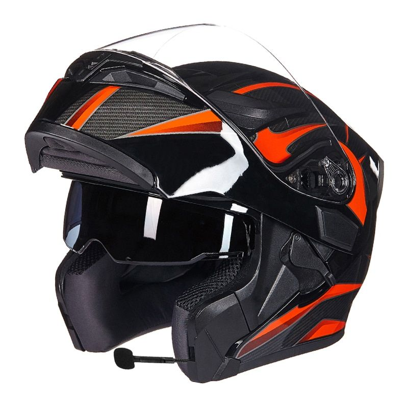 GXT moto rcycle engrenages de protection casques ECE dot pour étanche bluetooth casque casque moto lavé intérieur Flip Up moto casque
