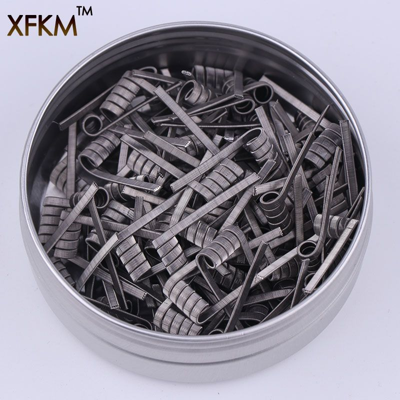 50/100 pcs High Density Pre-built NI80 A1 SS316 Premade Frameclapton Coil DIY Coil Heating alien clapton Coil Wire for rda