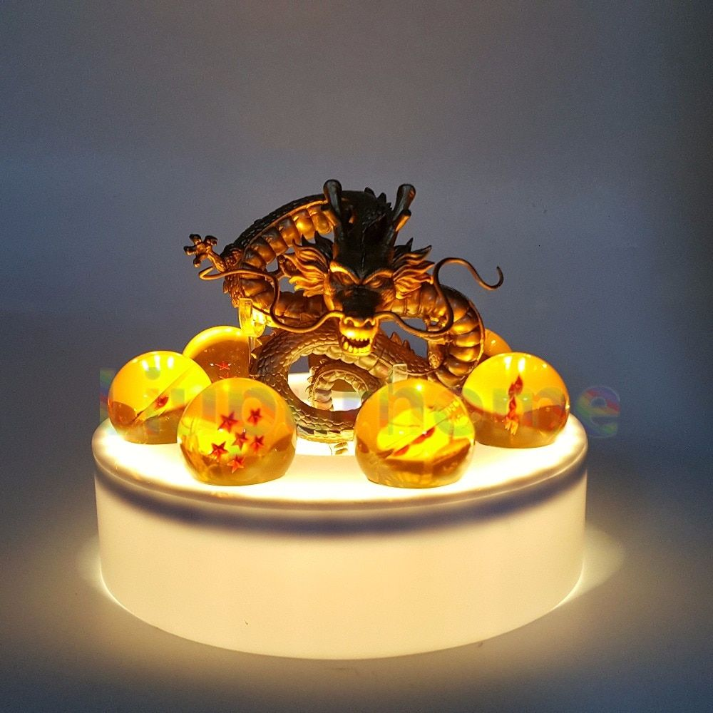 Anime Dragon Ball Z Golden Shenron Crystal Ball Led Set Dragon Ball Super Son Goku DBZ Led Lamp Night Lights Xmas Gift