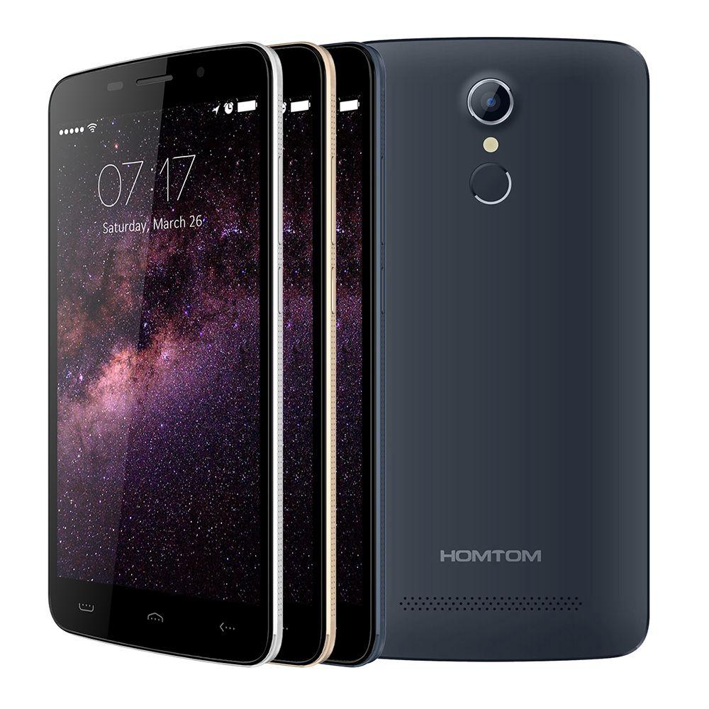 IRULU Original HOMTOM HT17 5.5 inch 1280x720HD 4G FDD Android 6.0 Fingerprint Quad Core 1GB+8GB 13MP New Smart Mobile Phone