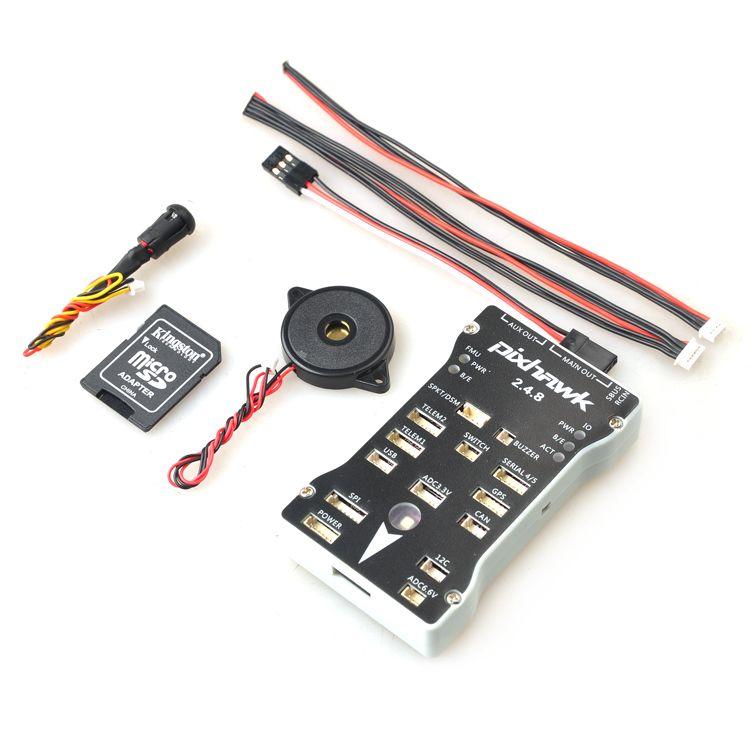 Pixhawk PX4 Autopilot PIX 2.4.8 32 Bit Flight Control with PX4FMU PX4IO Safety Switch Buzzer 1G SD for DIY RC Drone Multirotor