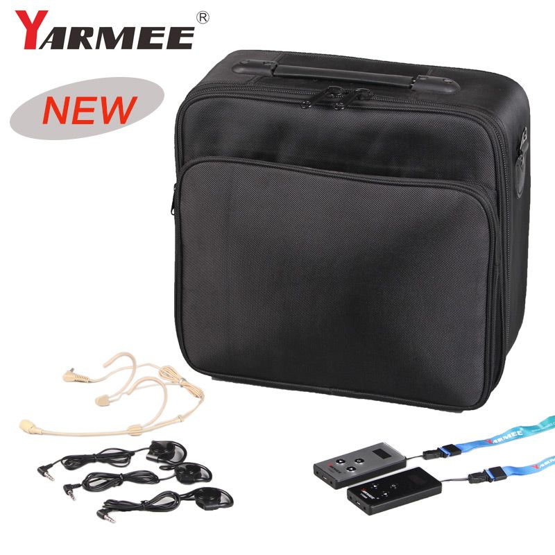 YARMEE Hohe qualität VHF-195/VHF 235 Wireless Tour Guide System 50 M Reichweite 2 Sender + 30 empfänger + 30 kopfhörer