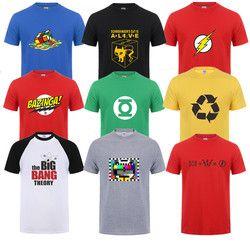Mode Nouveau Sheldon Cooper Penny Hommes T-shirt D'été À manches Courtes le Big Bang Theory T-shirt Coton Cooper Logo Hommes T-shirt Tops