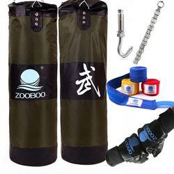 90cm Training MMA Boxing Bag Hook Hanging Kick Muay Thai Sanda Punching Bag Sandbag (Empty)