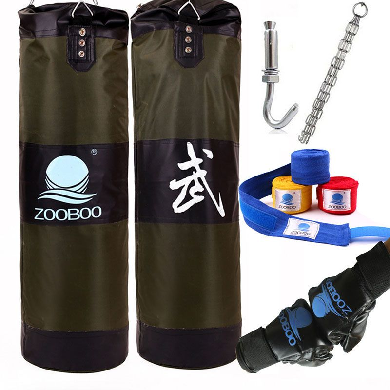 90cm <font><b>Training</b></font> MMA Boxing Bag Hook Hanging Kick Muay Thai Sanda Punching Bag Sandbag (Empty)