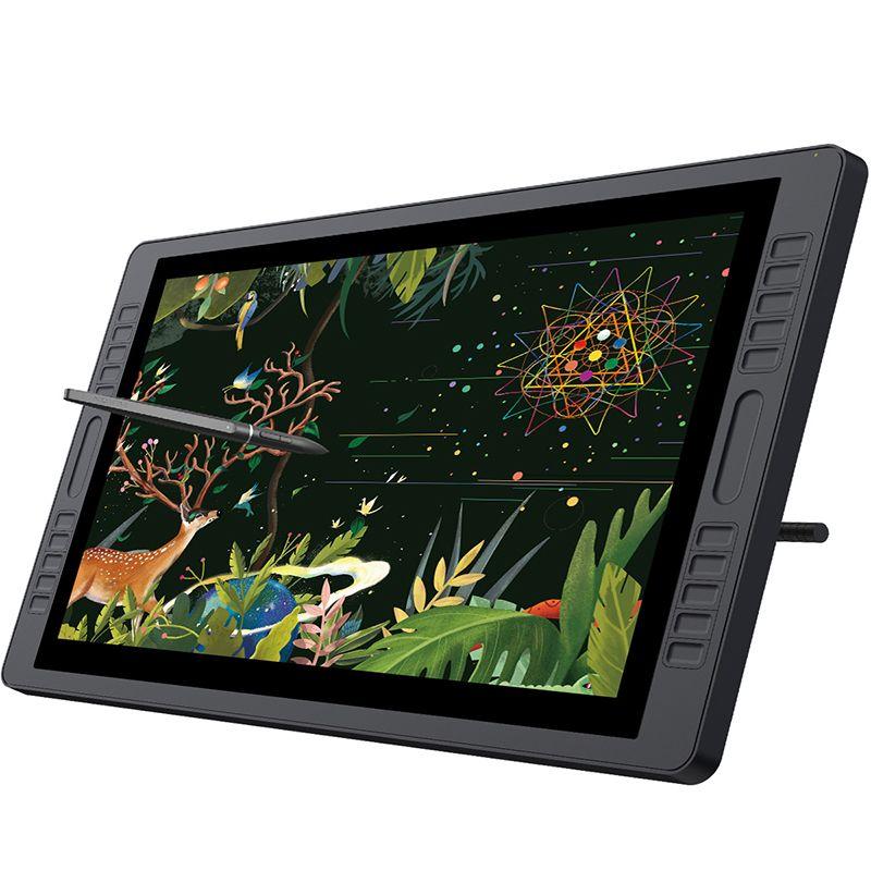 HUION KAMVAS GT-221 Pro 8192 Ebenen Pen Display Zeichnung Tablet Monitor IPS LCD HD Bildschirm 10 Drucktasten-21,5 zoll