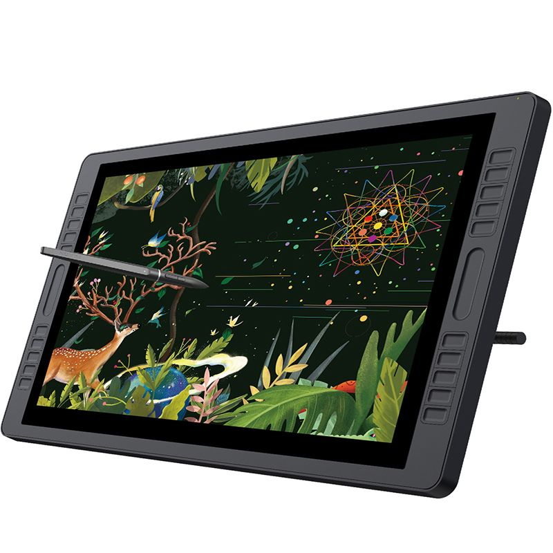HUION KAMVAS GT-221 Pro 8192 Levels Pen Display Drawing Tablet Monitor IPS LCD HD Screen 10 Press Keys - 21.5 Inch