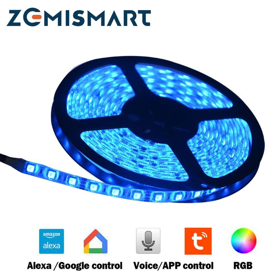 LED Driver with 5 Meters RGB LED Strip Work With Alexa Google Home Smart Lamp Voice and APP control Dimmer Timer Control