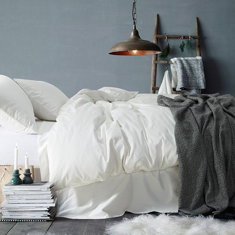 TUTUBIRD-Luxury Solid Color Egyptian Cotton Bedding Set Duvet Cover Sheet Pillowcase King Queen Size White Gray Blue Bed Linen