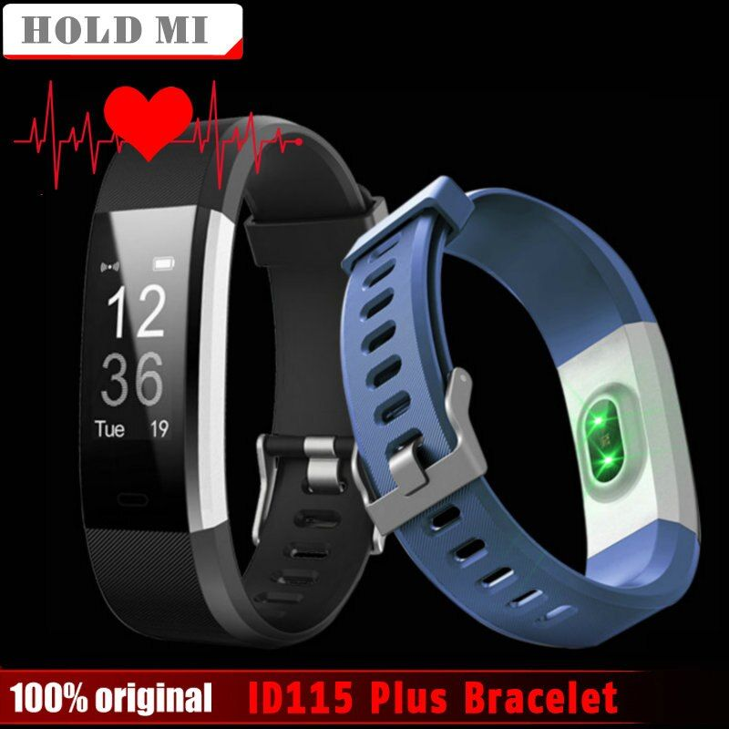 Hold Mi ID115 Plus Heart Rate Smart Band 0.96 OLED Sleep <font><b>Monitor</b></font> Smart Bracelet Bluetooth Call Reminder Sports Fitness Tracker