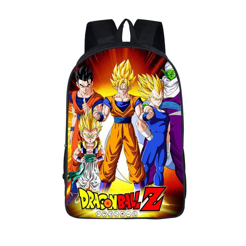Anime Dragon Ball Backpack Boys Girls School Bags Super Saiyan Sun Goku Backpack For Teenagers Kids Daily Bags Gift Backpacks