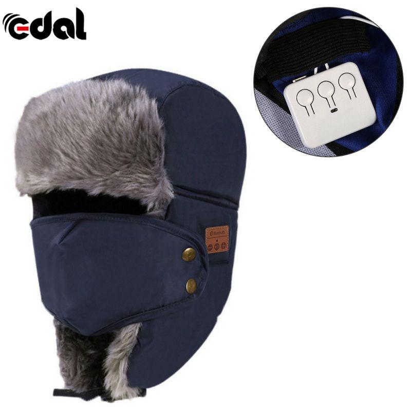 EDAL Warm Beanie Hat Wireless Bluetooth Smart Cap Headset Headphone Speaker Mic Bluetooth Hat