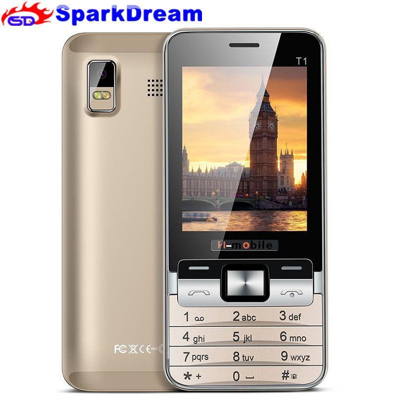 H-Mobile T1 De Base Grand Clavier Quad Band Personnes âgées Mobile Téléphone 2.8 pouce Écran Bluetooth caméra MP3 MP4 pas cher Téléphone portable