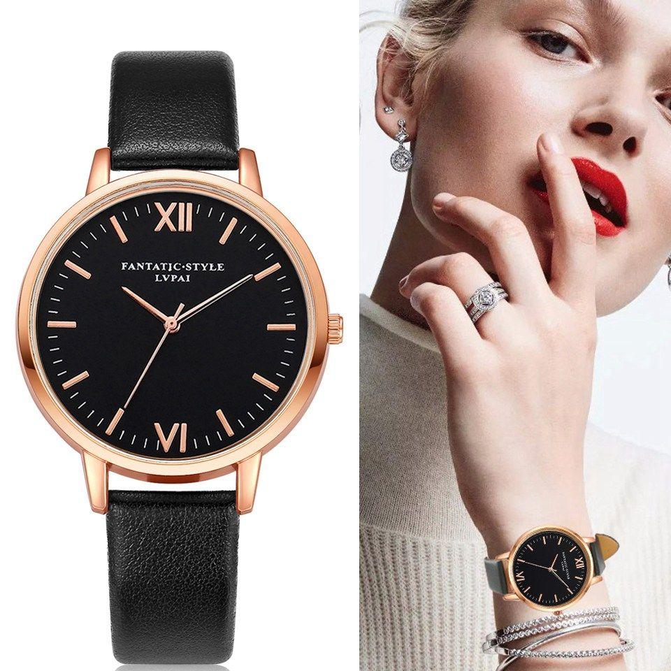 2018 Rose Gold Lvpai Brand Leather Watch Luxury Classic Wrist Watch Fashion Casual Simple Quartz Wristwatch Clock Women Watches