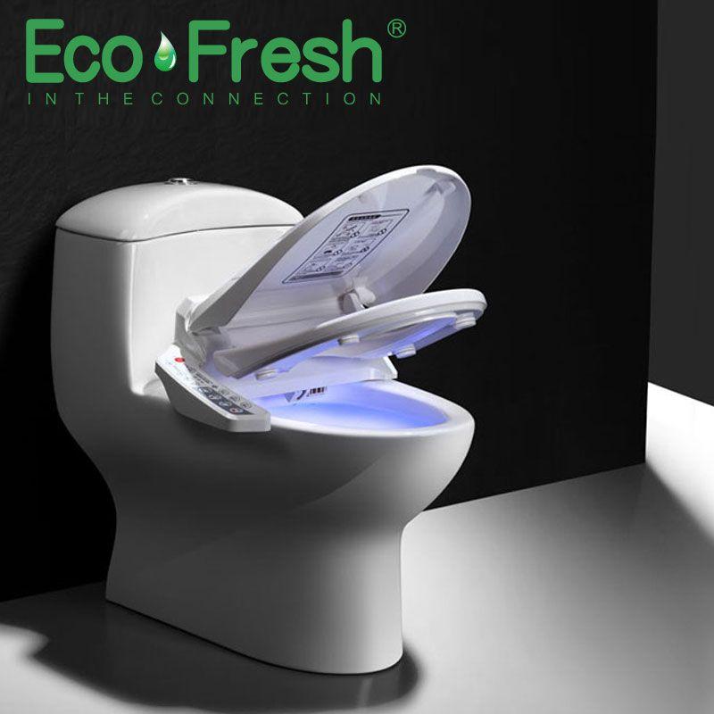 EcoFresh Smart wc sitz Dusch-wc Elektrische Bidet abdeckung intelligente bidet wärme saubere trockenen Massage pflege für kind frau die alten