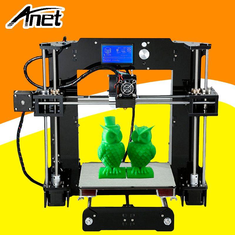 Anet A6 3D Drucker Verbesserte Hochpräzise Hohe Qualität Einfache Montage Prusa i3 Reprap Kostenloser Filament Kit 16 gb SD karte LCD Bildschirm