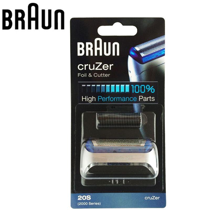Braun Electric Shaver Blade 20S 2000 Series Foil & Cutter Combi Pack CruZer Shavers 20S Z20 Z30 Z40 2876 5732 Cruzer4 Cruzer5