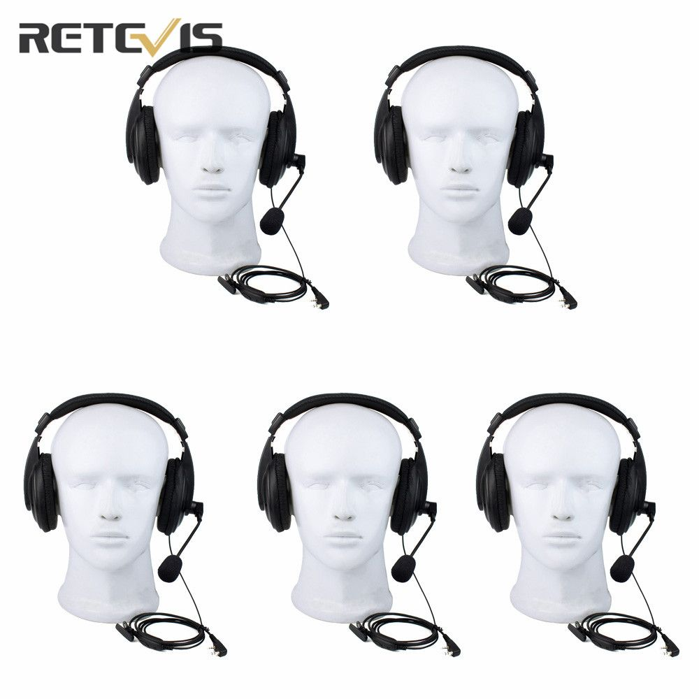 5 pcs 2 Pin Retevis R-114 VOX Headset Walkie Talkie Retevis For Kenwood For Baofeng For TYT Accessories Radio C9044A