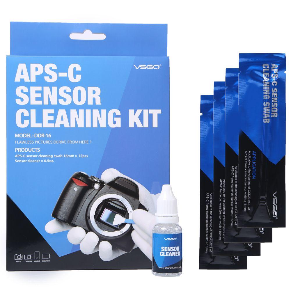 Kit de tampons de nettoyage pour capteur de caméra DSLR 12 pièces avec Solution de nettoyage de liquide pour Nikon Canon Sony APS-C appareils photo numériques