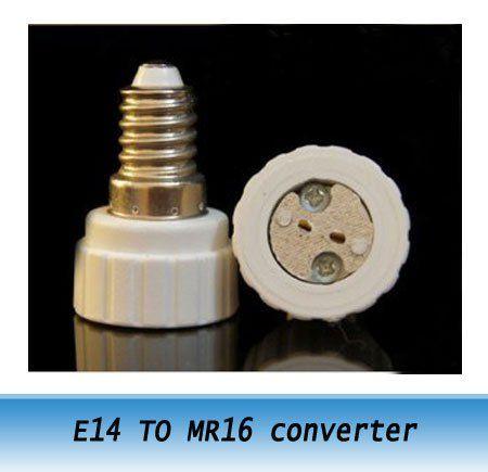 ceramic lamp holder converter E14 to MR16 Conversion screw socket LED lighting accessories 20pcs