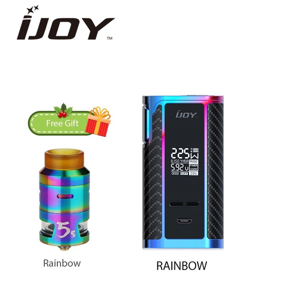 Electronic Cigarette IJOY Captain PD1865 225W TC MOD with 2.6ml RDTA 5S Tank Max 225W Output Huge Power Vs PD1865 Box Mod Vape