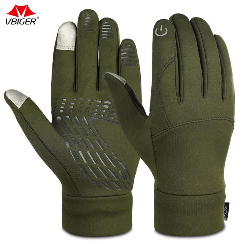 Vbiger Winter Gloves Professional Outdoor Cycling Running Touch Screen Gloves Winter Sport Gloves