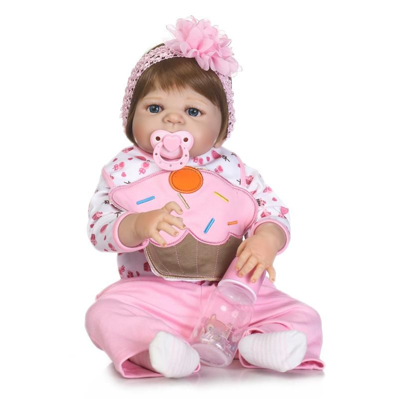 New Style Full Body Lifelike 57cm Princess Reborn Silicone Realista Bathed Toys For Baby Girls Birthday Gifts Best Sell Dolls